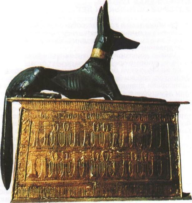 Статуя египетского божества Анубиса, наполовину собаки, наполовину шакала, связанного с культом мертвых (Египетский национальный музей, Каир). Собаки нередко фигурируют в религии и мифологии различных народов